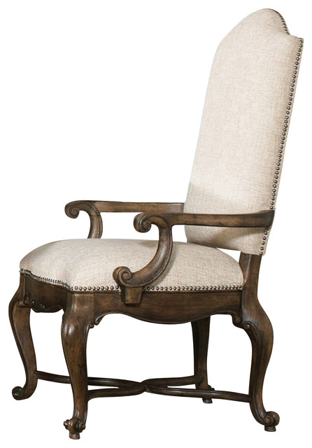 Traditional Upholstered Dining Chairs ~ Hooker rhapsody upholstered arm chair set of