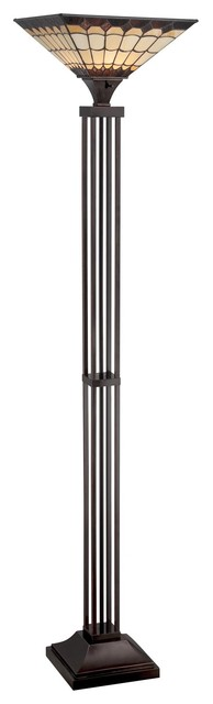 Arty 1 light torchiere floor lamp contemporary floor for Contemporary torchiere floor lamps