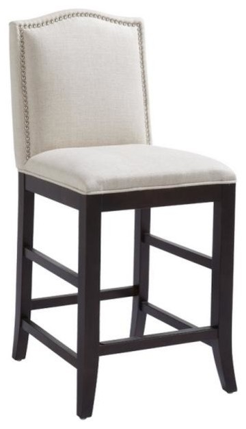 Counter Height Nailhead Chairs : With Nailhead Trim, Bar Height - Transitional - Bar Stools And Counter ...