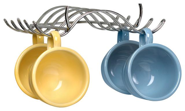 Undershelf Mug Holder - Chrome - Transitional - Kitchen ...