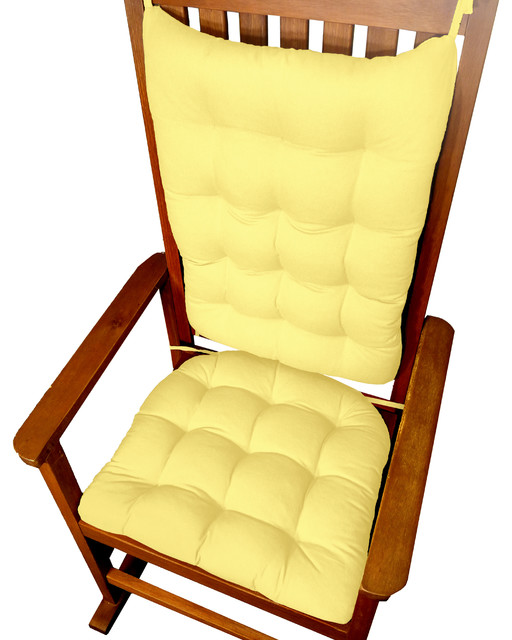 yellow rocking chair cushions 1