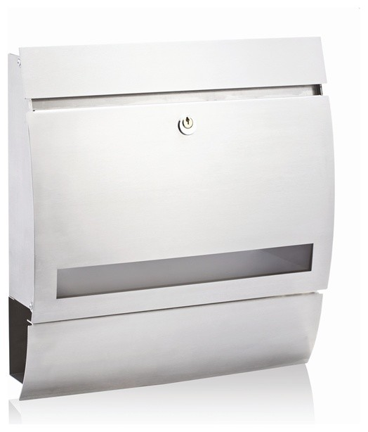 Buzon Stainless Steel Alonso Wall Mounted Letterbox - Contemporary - Mailboxes - by bunnings.com.au