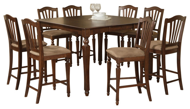 Counter Height Gathering Table Sets : Piece Counter Height Dining Set-Square Gathering Table With 4 Stools ...