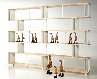 Modular Bookcases Solid Wood Skaffa RANDOM - Contemporary - Bookcases ...