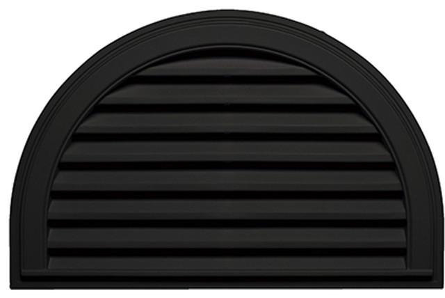 34 wx22 h half round gable vent louver black for Half round buildings