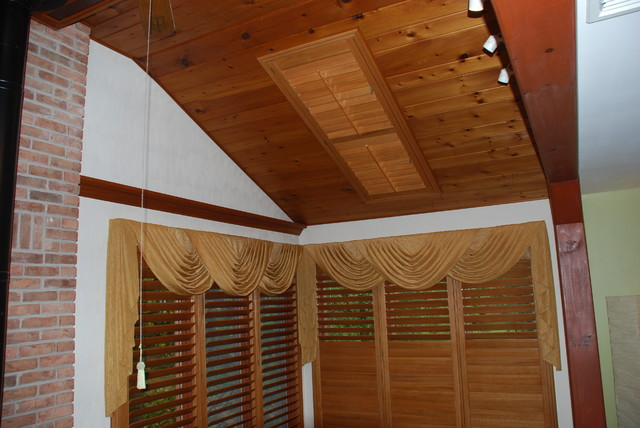 Skylight shutter traditional interior shutters philadelphia by john 39 s window fashions for Decorative interior wall shutters