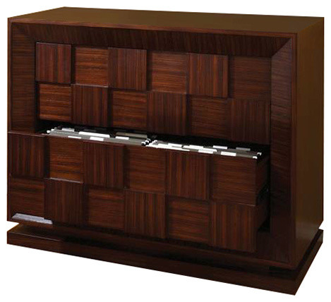 Block Lateral File Cabinet by Global Views - Contemporary - Filing Cabinets - by BSEID