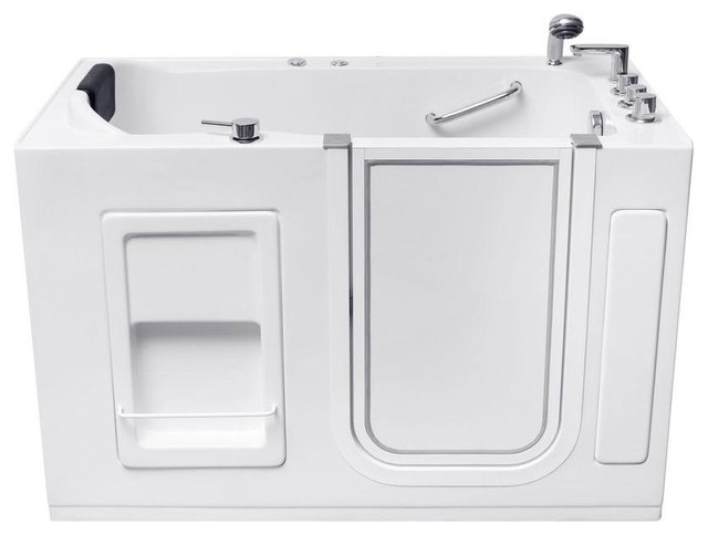 Aston 55 Walk In Whirlpool Bathtub With Right Drain White 55