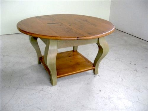 Small Round Coffee Table With Shelf Farmhouse Coffee Tables Boston By Ecustomfinishes