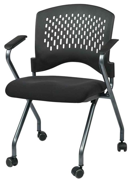 Deluxe Folding Chair Set of 2 Contemporary fice Chairs