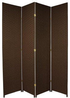 room divider dark mocha 4 panel traditional screens and room