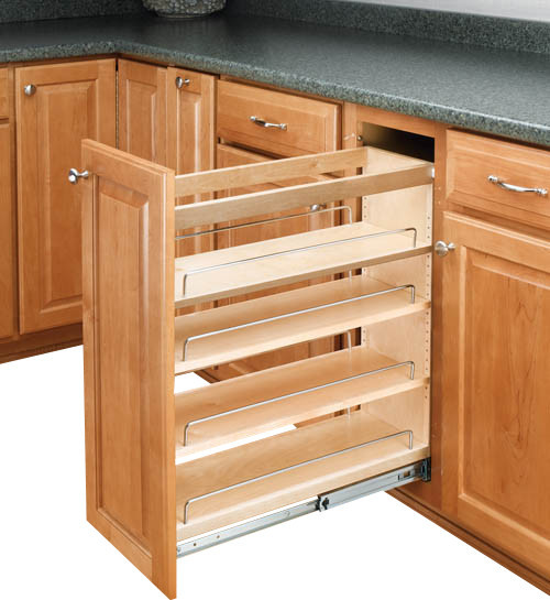 Pullout Cabinet Organizer With Adjustable Shelves - Contemporary - Pantry And Cabinet Organizers ...