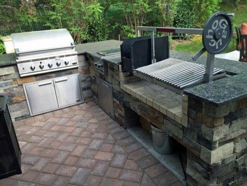 Custom Countertop Parrilla Grill Insert Outdoor Grills