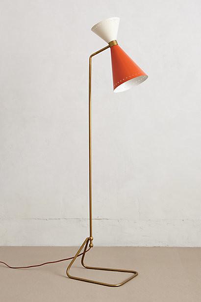 Novara Floor Lamp Orange Contemporary Floor Lamps