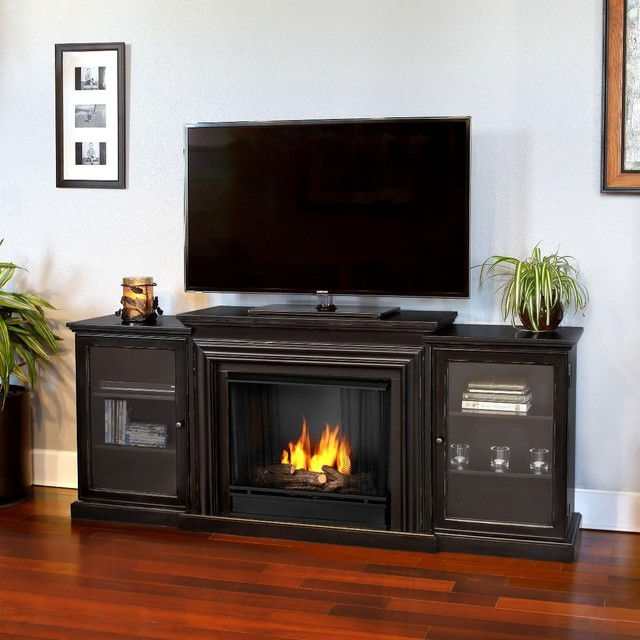 Real flame frederick gel fireplace contemporary indoor for Contemporary ventless fireplace