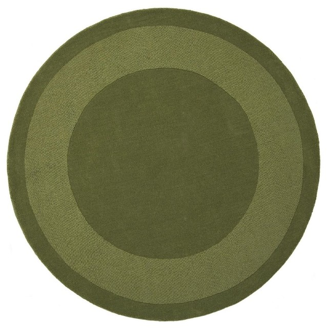 Contemporary transitions round 8 39 round moss area rug for Round area rugs contemporary