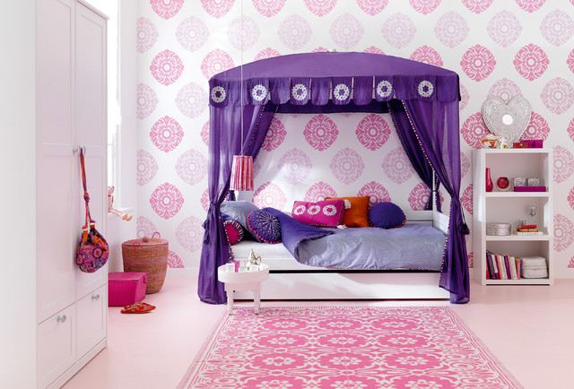 canopy four poster twin bed in morocco chic with trundle asian kids beds los angeles by. Black Bedroom Furniture Sets. Home Design Ideas
