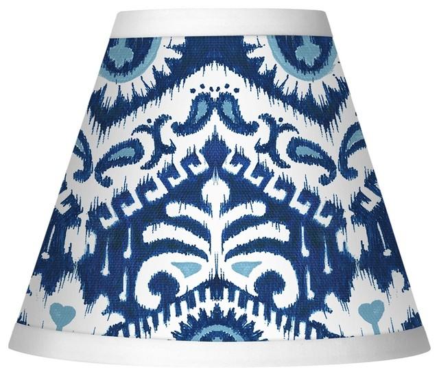 batik blue giclee set of four shades 3x6x5 clip on. Black Bedroom Furniture Sets. Home Design Ideas