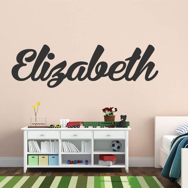 elizabeth in calligraphy wall decal sticker contemporary bubble heaven contemporary printed wall sticker