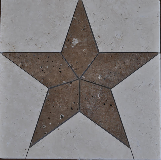 Natural Stone Star, White and Brown - Wall And Floor Tile ...
