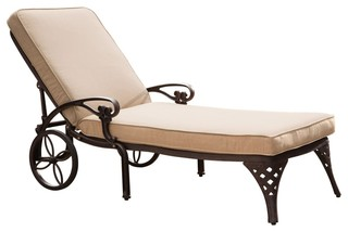 Transitional outdoor chaise for Bronze chaise lounge