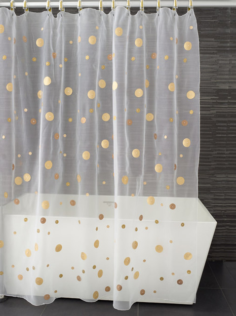 Moondance Shower Curtain Shades Of Gold Contemporary