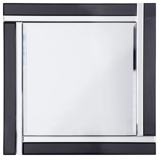 Thick and thin square mirror black silver for Thin wall mirror