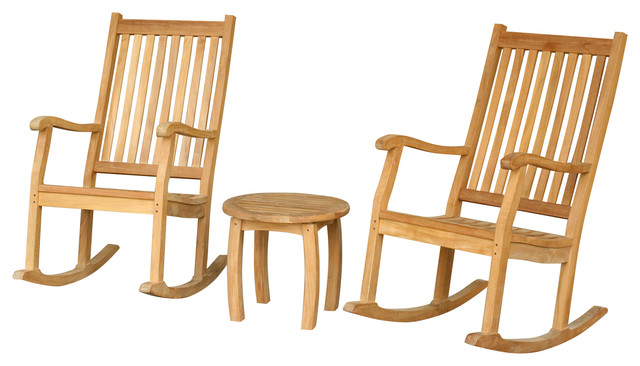 Jakarta Rocking Chair 3 Piece Set Contemporary Outdoor Rocking Chairs b