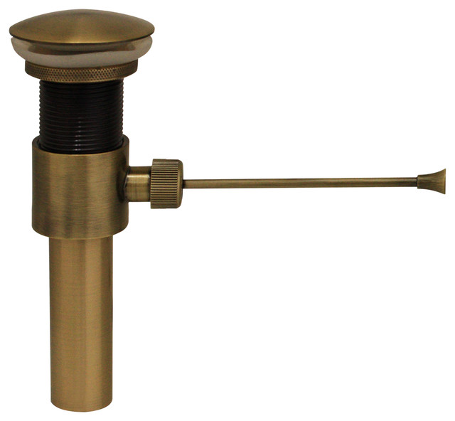 2 3 4 pop up mechanical drain antique style brass