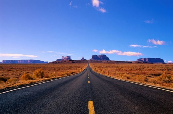 Desert highway photo wall mural contemporary wallpaper for Desert mural wallpaper