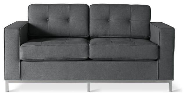 Gus Modern Jane Loveseat Sofa, Urban Tweed Ink