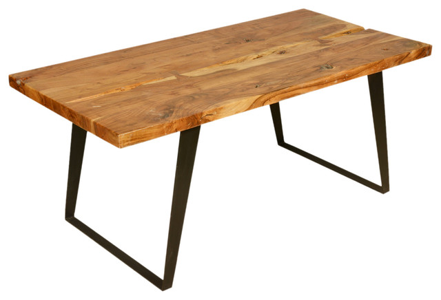 Hankin Modern Rustic Solid Wood Industrial Style Dining Table Rustic Dini