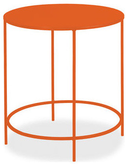 Slim round end tables contemporary side tables end for Slim side table