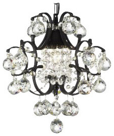 Laviana Wrought Iron Mini Crystal Chandelier With Crystal Balls Traditional Chandeliers By