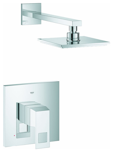 Grohe Eurocube Shower Combo Modern Tub And Shower Faucet Sets