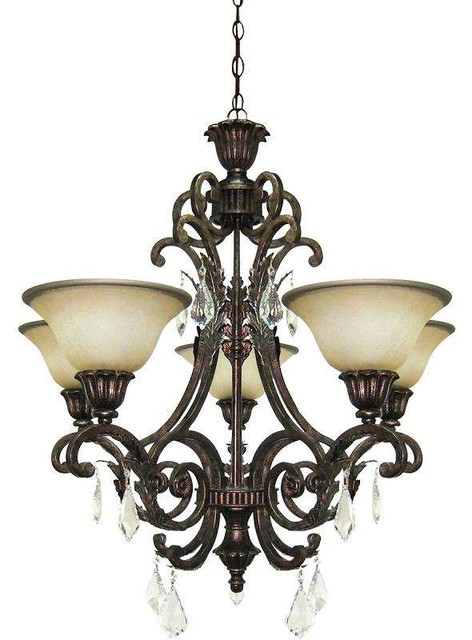 Danbury 8 Light Chandelier Oil Rubbed Bronze