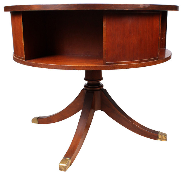1950s English Duncan Phyfe Drum Table - Contemporary - Side Tables And End Tables - by One Kings ...