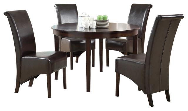 monarch specialties 1740 177x 5 piece round dining room