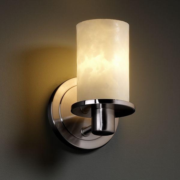 Justice Design Wall Sconces : Justice Design CLD-8511-10-NCKL Rondo 1-Light Wall Sconce Clouds Collection