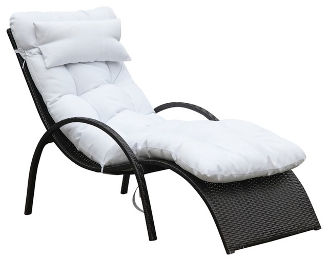 Otello Outdoor Lounge Chair White Modern Sun Loungers By In Style Modern