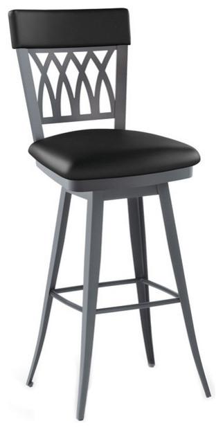 Modern Interlaced Backrest Swivel Stool Spectator Seat