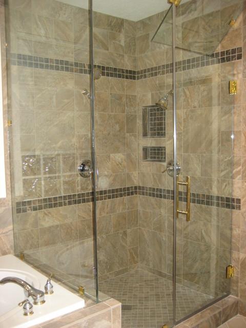Tile modern badrum las vegas av expert flooring for Expert flooring solutions
