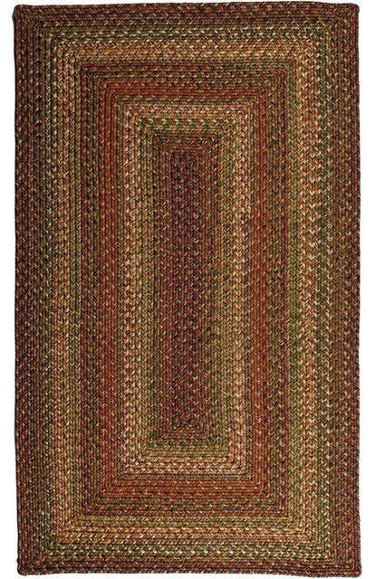 Braided Rainforest 6 x9 Rectangle Beige Red Area Rug Farmhouse A