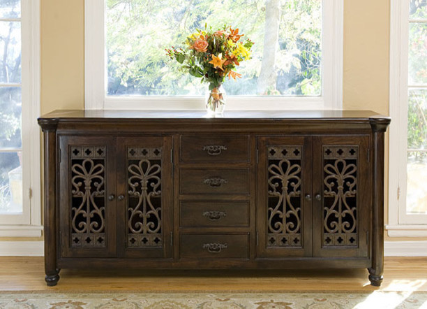 Augustine 4 Drawer 4 Door Buffet Mediterranean Buffets