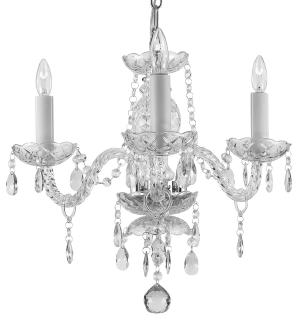 Crystal 3 light chandelier traditional chandeliers by gspn - Traditional crystal chandeliers ...
