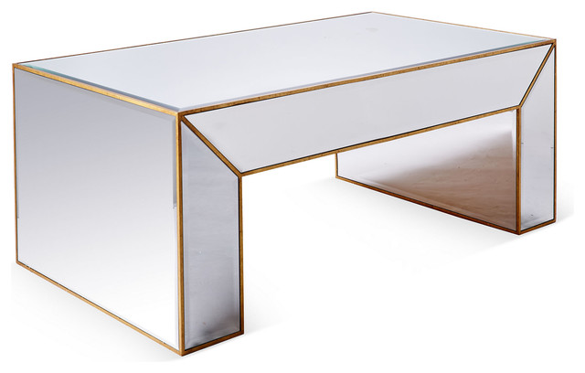 charlotte mirrored coffee table gold contemporary coffee tables
