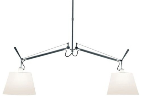 tolomeo double shaded suspension by artemide moderne luminaire mural par lumens. Black Bedroom Furniture Sets. Home Design Ideas