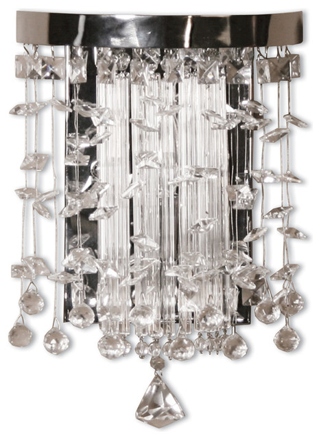 Traditional Crystal Wall Lights : Fascination Crystal Wall Sconce - Traditional - Wall Sconces - by Bludot