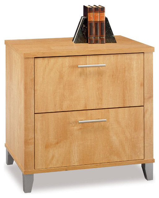 Bush Somerset 2-Drawer Wood Lateral File Storage Cabinet in Maple - Transitional - Filing ...