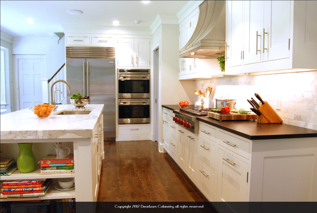 Greenhaven Road Colonial All White Kitchen Traditional